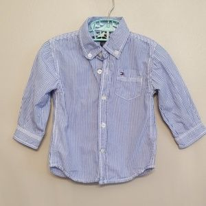 Tommy Hilfiger Long Sleeve Button Up Dress Shirt
